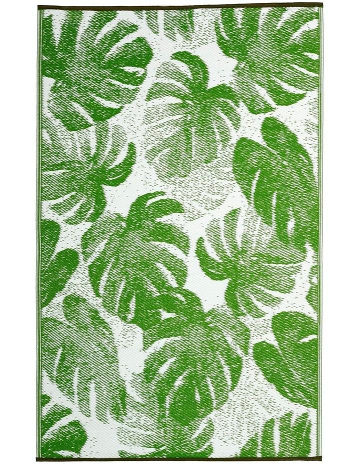 180x270 cm Fab Habitat Indoor/Outdoor Recycled Plastic Rug Mat - Panama Green image 1