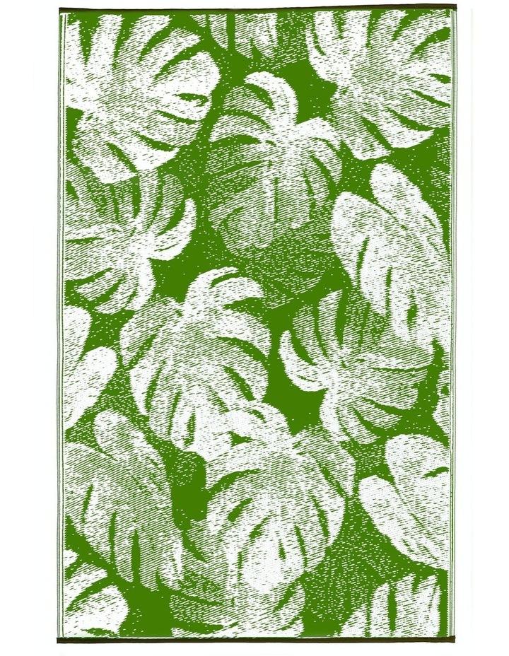 180x270 cm Fab Habitat Indoor/Outdoor Recycled Plastic Rug Mat - Panama Green image 2
