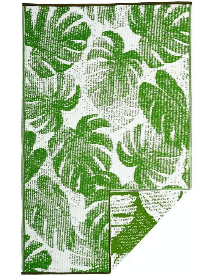 180x270 cm Fab Habitat Indoor/Outdoor Recycled Plastic Rug Mat - Panama Green image 3