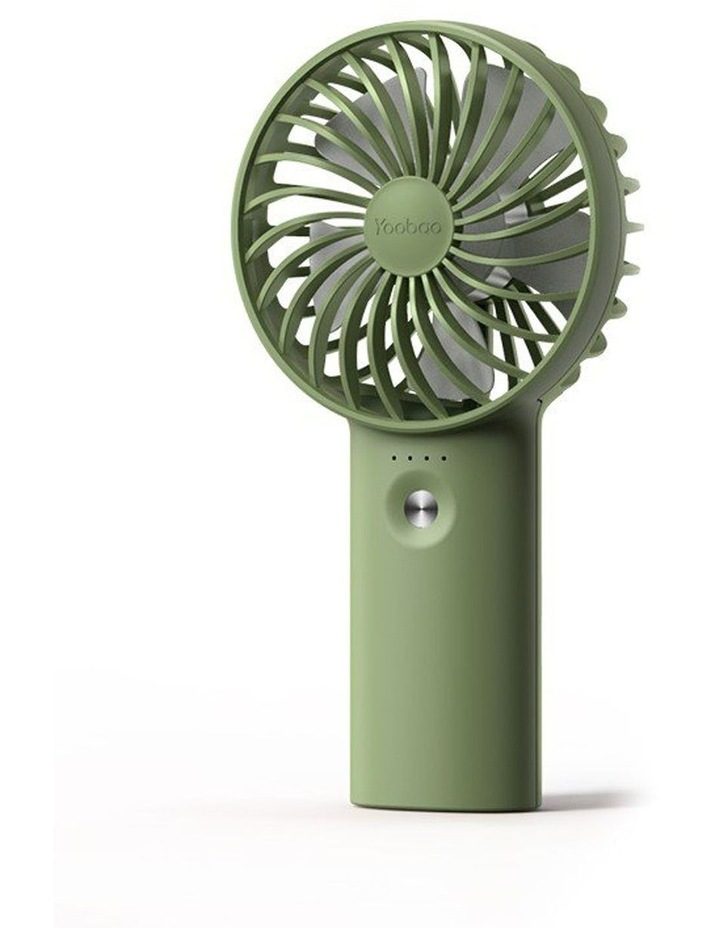 Green Mini Fan & Power Bank image 1