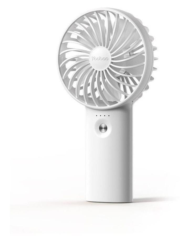 White Mini Fan & Power Bank image 1