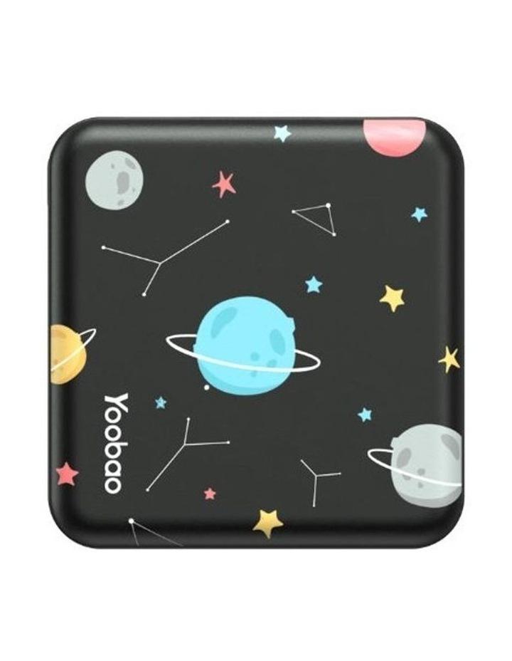 Mini Cube 10000mAh Power Bank - Black Planet image 1