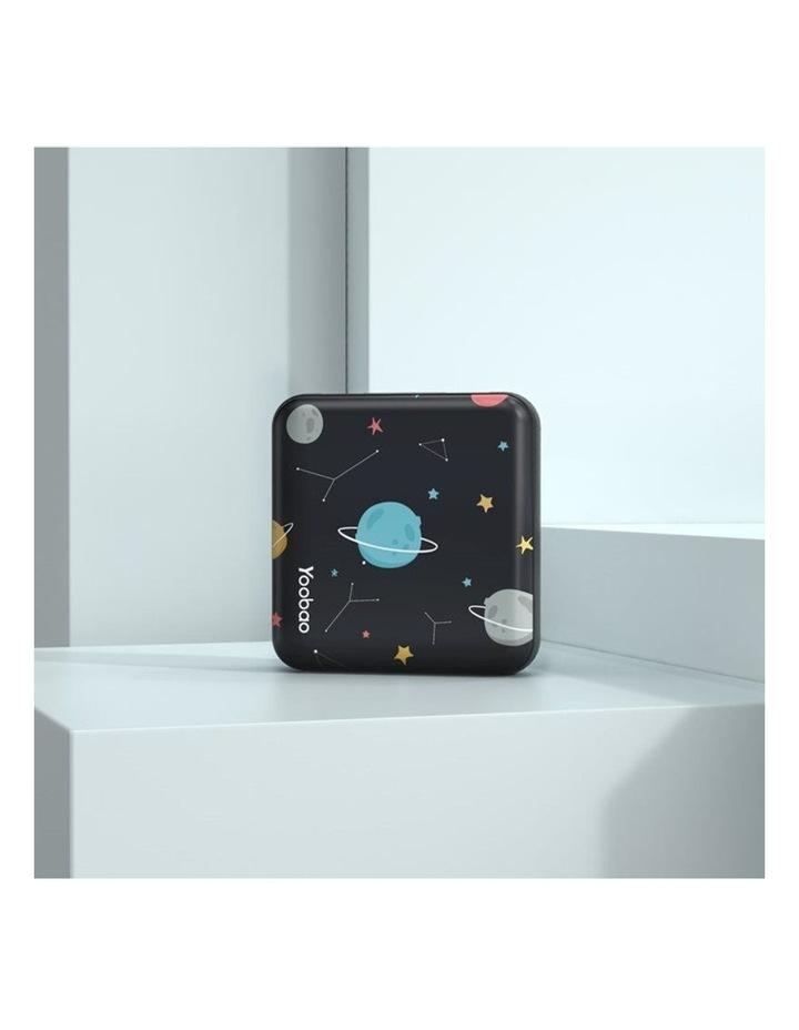 Mini Cube 10000mAh Power Bank - Black Planet image 2