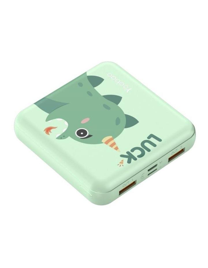 Mini Cube 10000mAh Power Bank - Green Dragon image 2