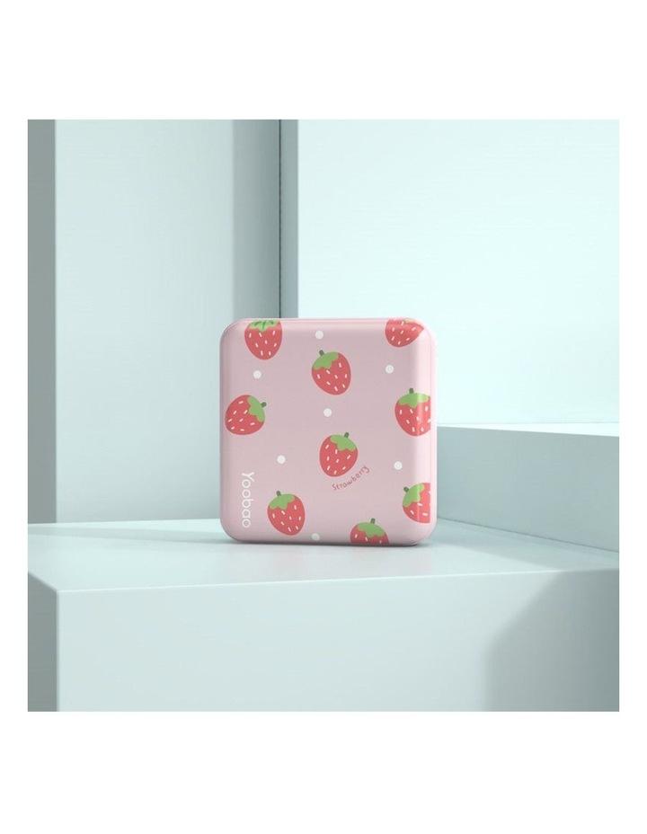 Mini Cube 10000mAh Power Bank - Pink Strawberry image 2