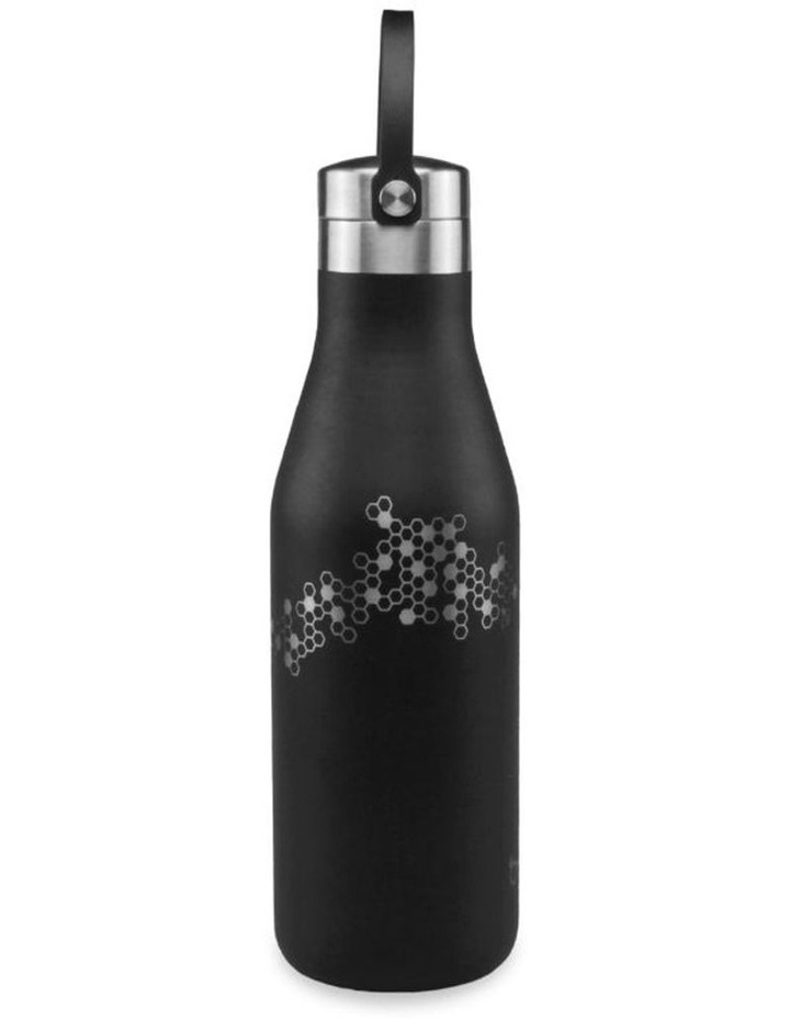 Black Bottle With Etched Bees image 1