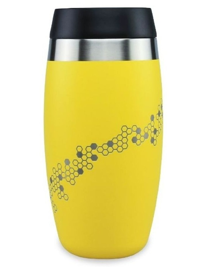 Yellow Tumbler With Etched Bees image 1