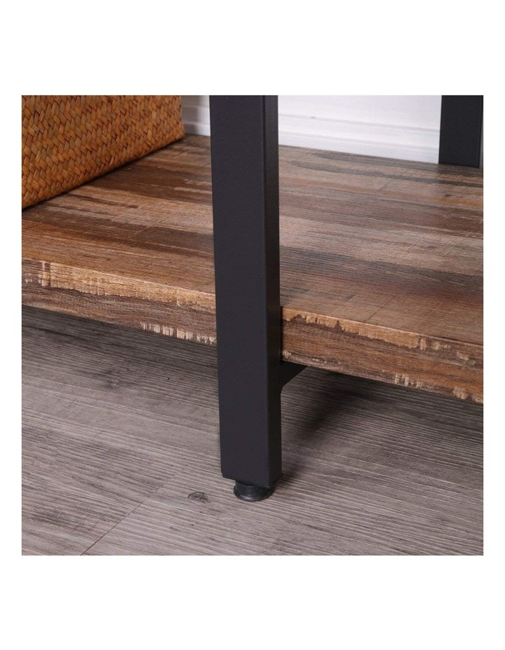 5 Tier Industrial Wood and Metal Bookshelves Retro Brown image 5