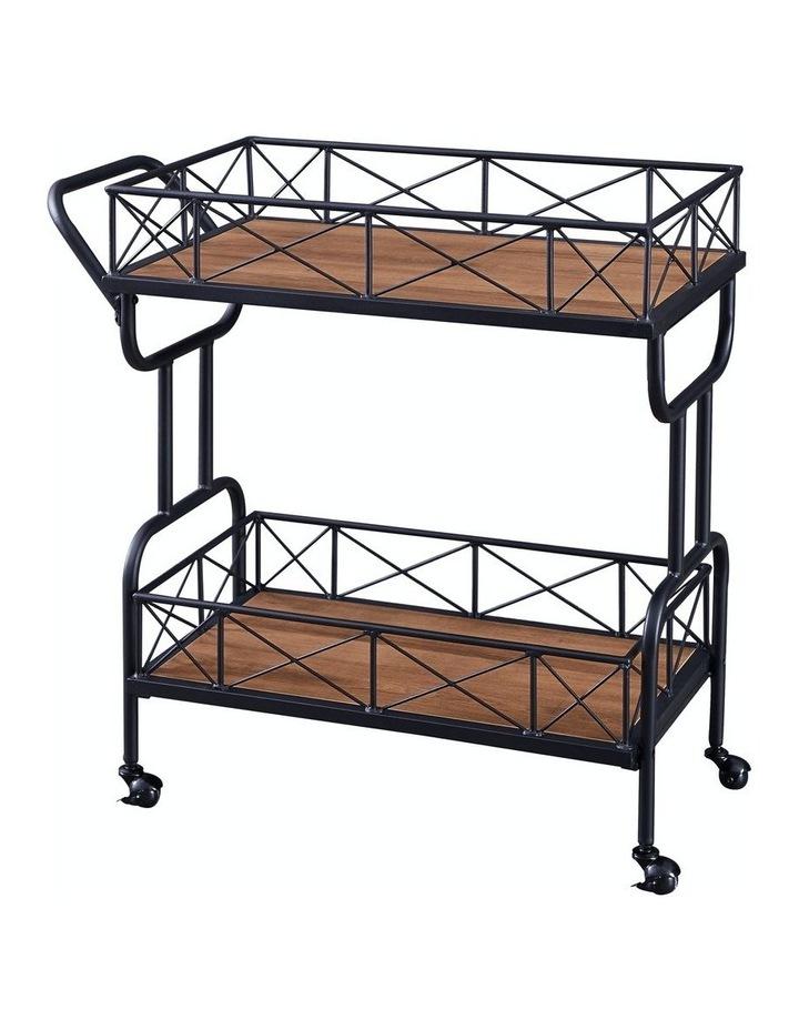 Drink Trolley Wood and Metal Bar Carts Vintage Brown image 1