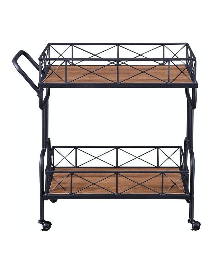 Drink Trolley Wood and Metal Bar Carts Vintage Brown image 4