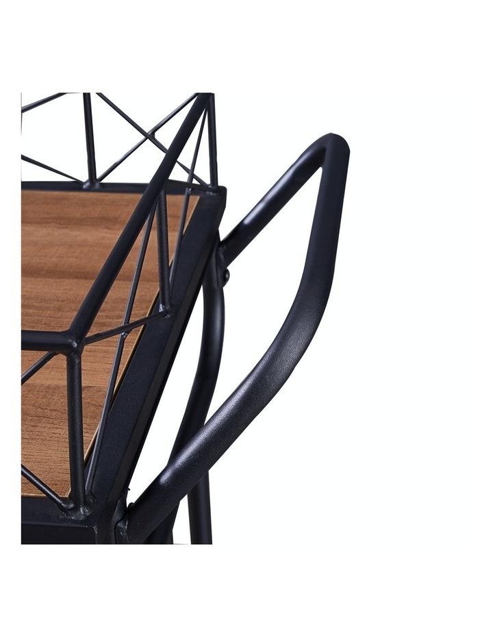 Drink Trolley Wood and Metal Bar Carts Vintage Brown image 5
