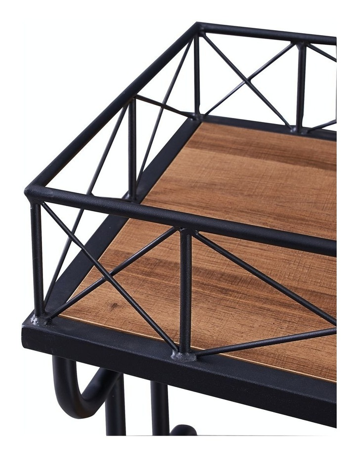 Drink Trolley Wood and Metal Bar Carts Vintage Brown image 6