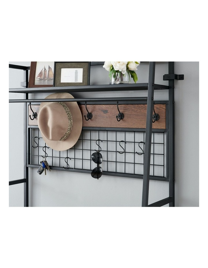 5-In-1 Hall Tree with Storage Bench & Hooks Brown image 4