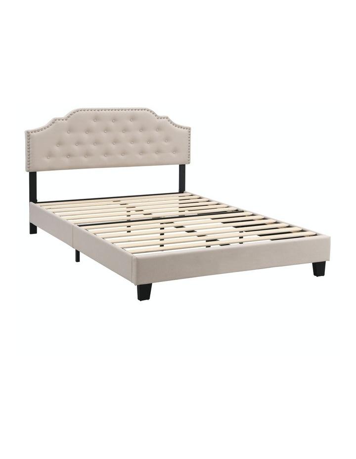 BEF02 Double Size Bed Frame Base Mattress Platform Beige image 4