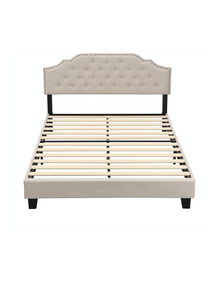 BEF02 Double Size Bed Frame Base Mattress Platform Beige image 6