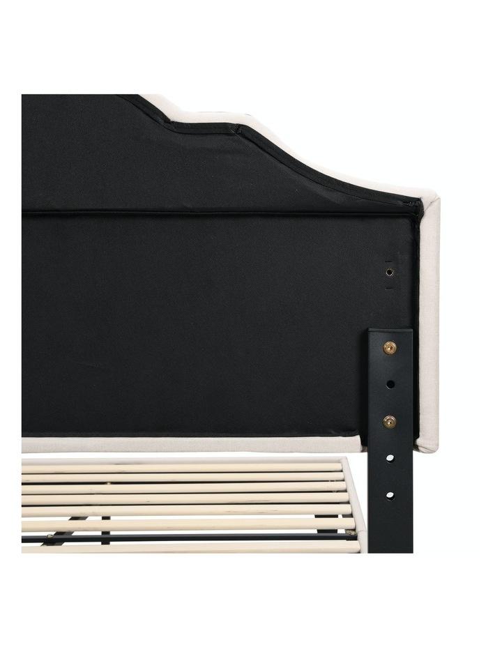 BEF02 Double Size Bed Frame Base Mattress Platform Beige image 7