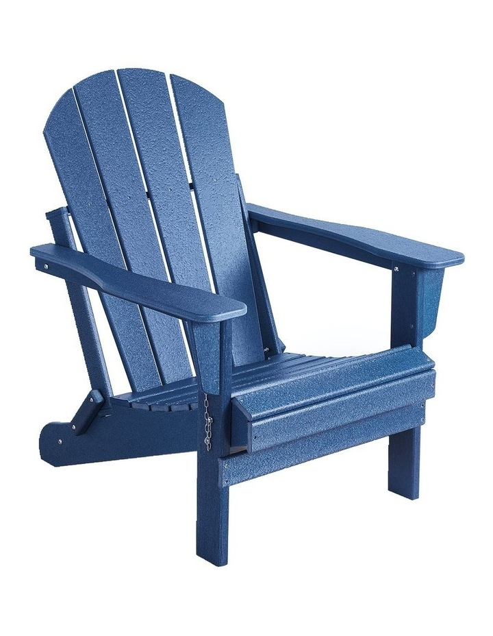 Folding & Painted Outdoor Adirondack Chair Weather Resistant Navy Blue image 1