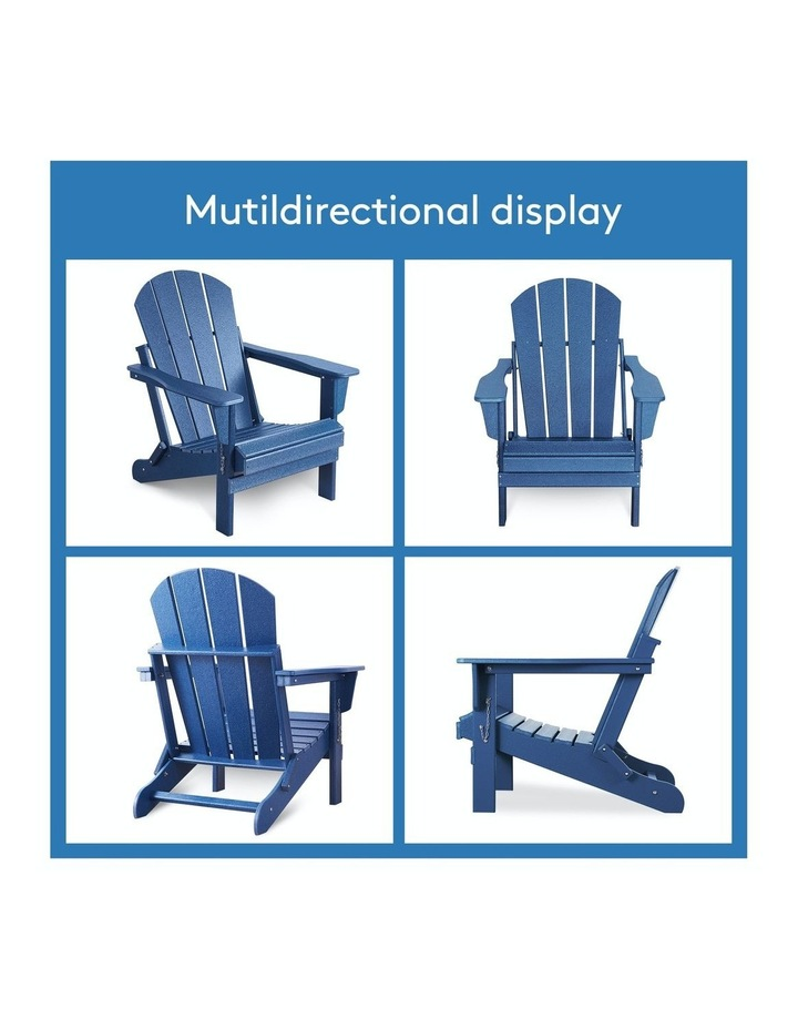 Folding & Painted Outdoor Adirondack Chair Weather Resistant Navy Blue image 6