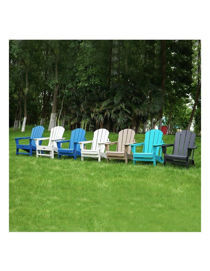 EHOMMATE HDPE Outdoor Adirondack Chair with Footrest White image 5