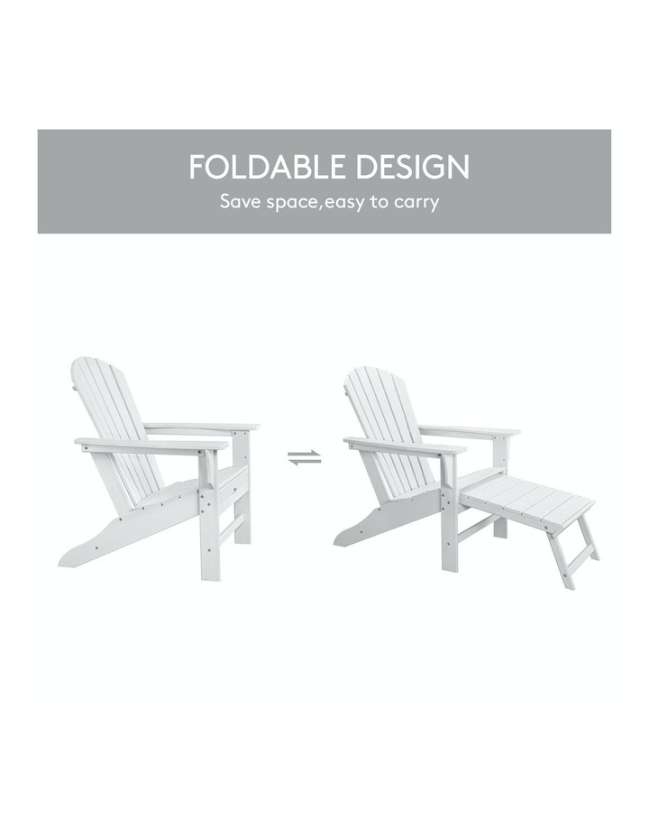 EHOMMATE HDPE Outdoor Adirondack Chair with Footrest White image 7
