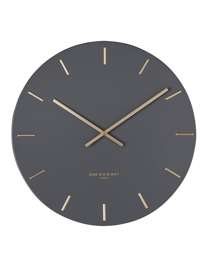Luca Charcoal 30Cm Silent Wall Clock image 1