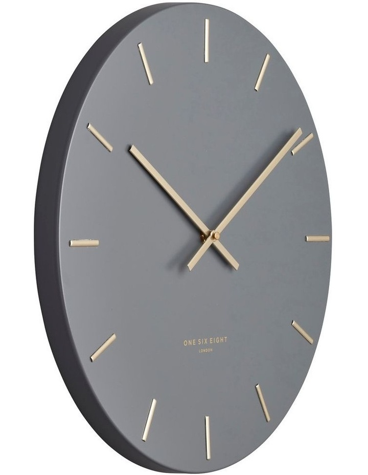 Luca Charcoal 30Cm Silent Wall Clock image 2
