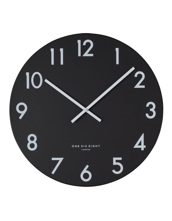 JACKSON Black 30cm Silent Wall Clock image 1