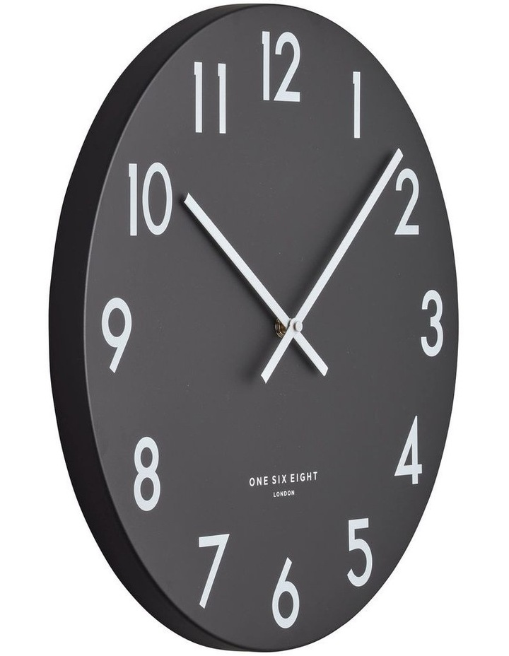 JACKSON Black 30cm Silent Wall Clock image 2