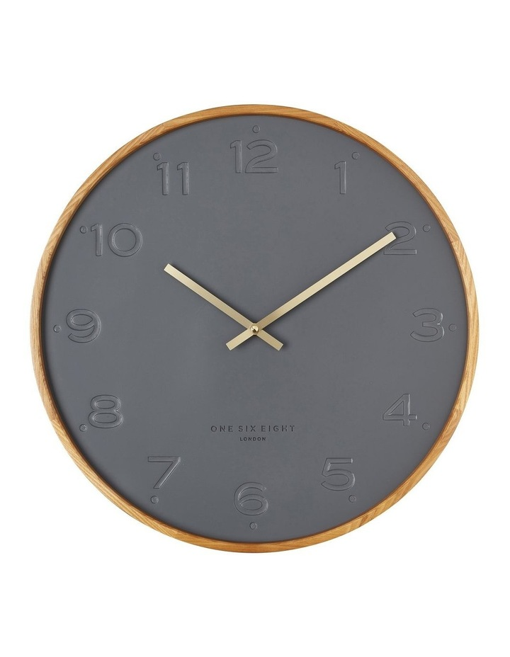 Freya Charcoal 35Cm Silent Wall Clock image 1