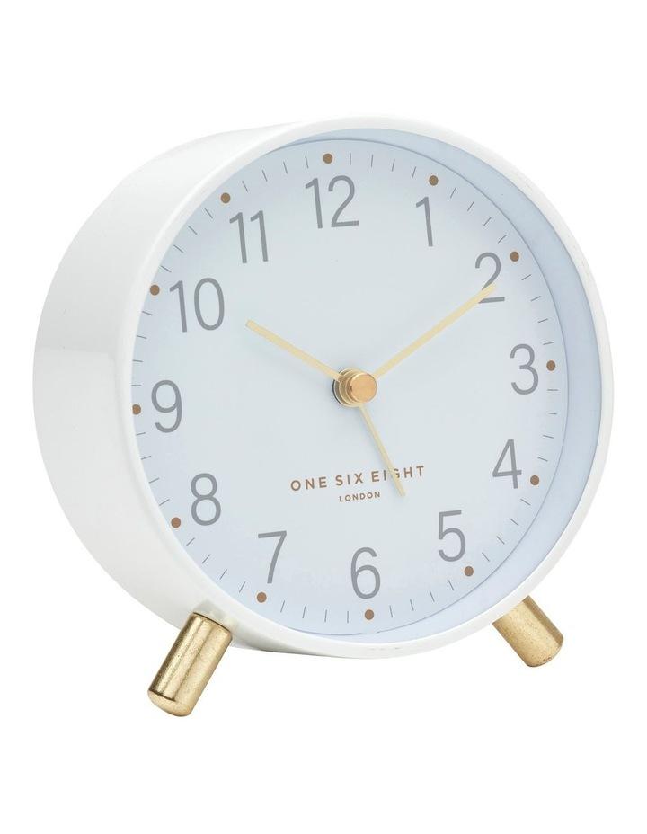 Maisie White Silent Alarm Clock image 1