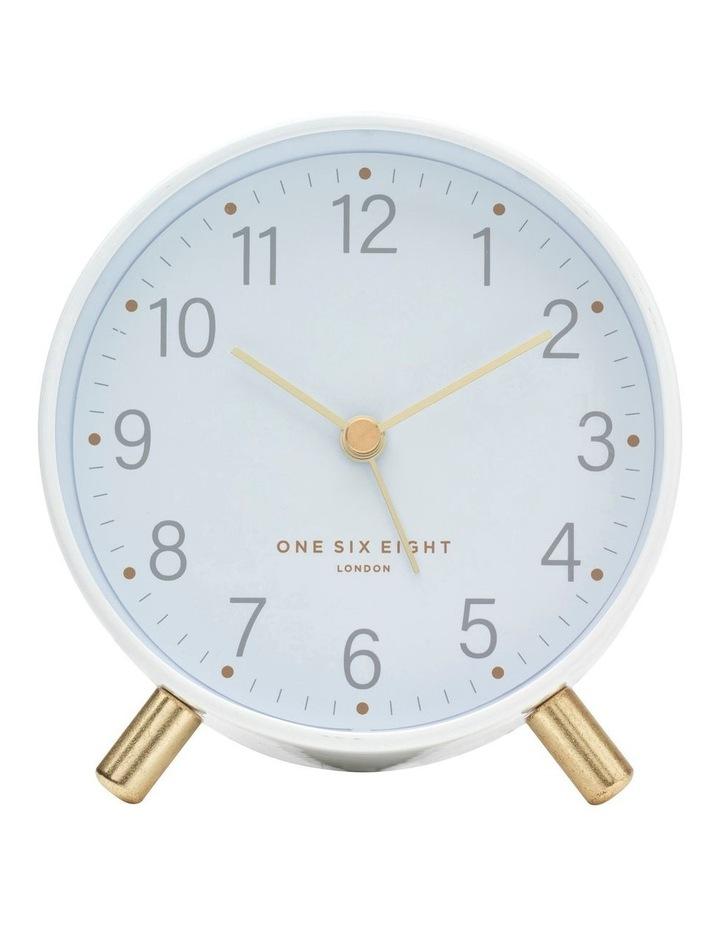 Maisie White Silent Alarm Clock image 2