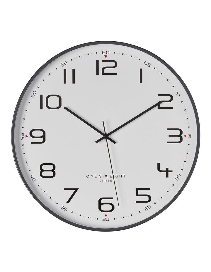 Carmen Cool Grey 30Cm Silent Wall Clock image 1