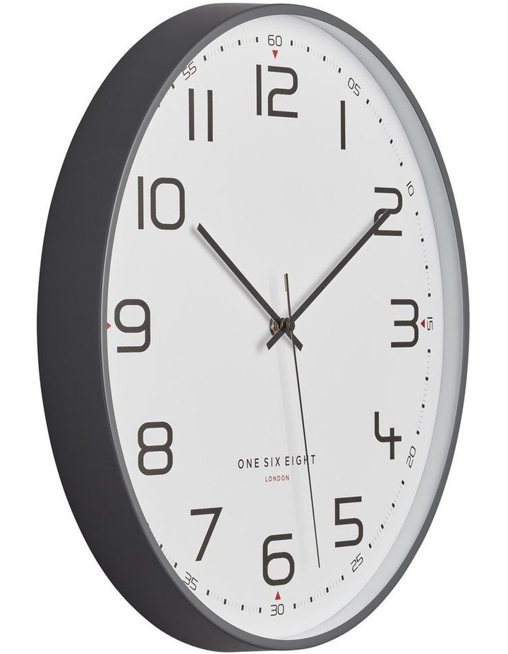 Carmen Cool Grey 30Cm Silent Wall Clock image 2
