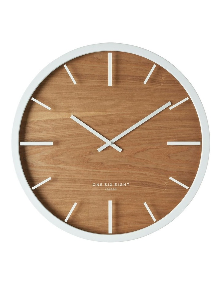 Willow White 50Cm Silent Wall Clock image 1