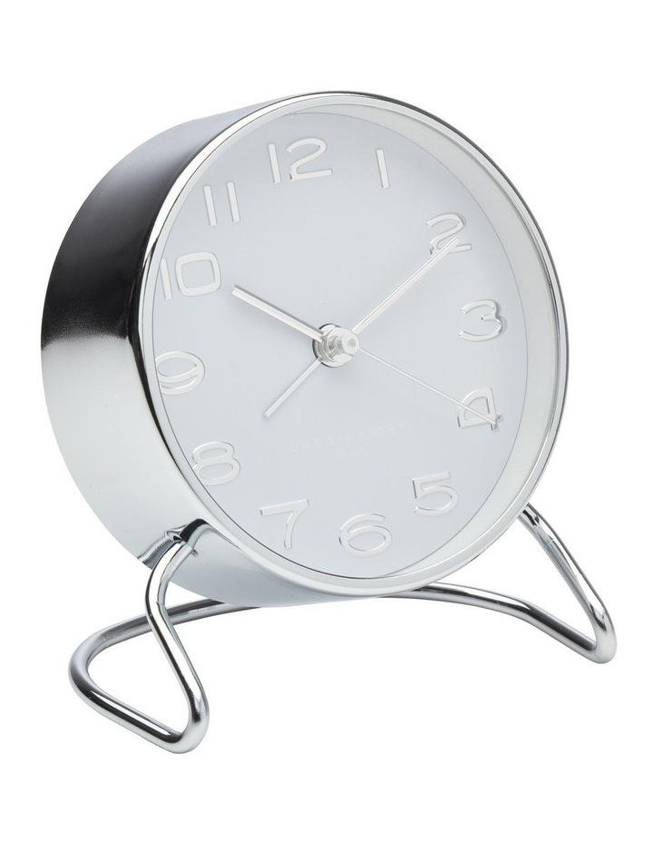 Isabelle White Silent Alarm Clock image 1