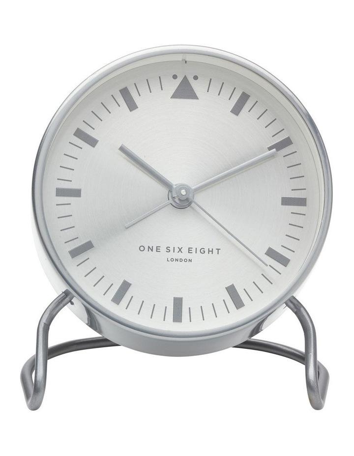 Lara Silver Silent Alarm Clock image 2