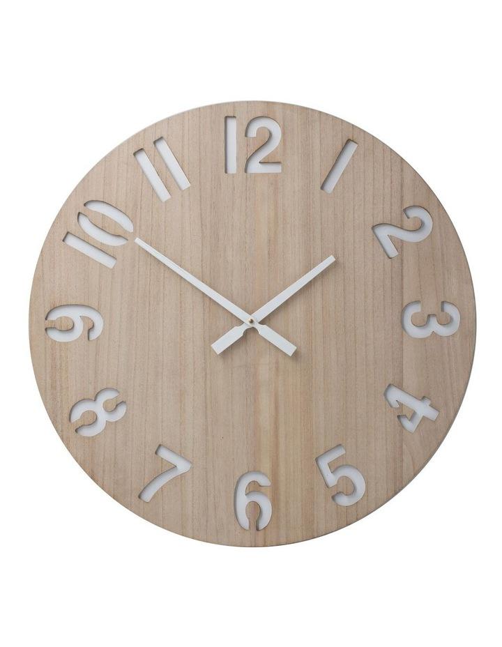 Henrik 60Cm Wall Clock - Natural image 1