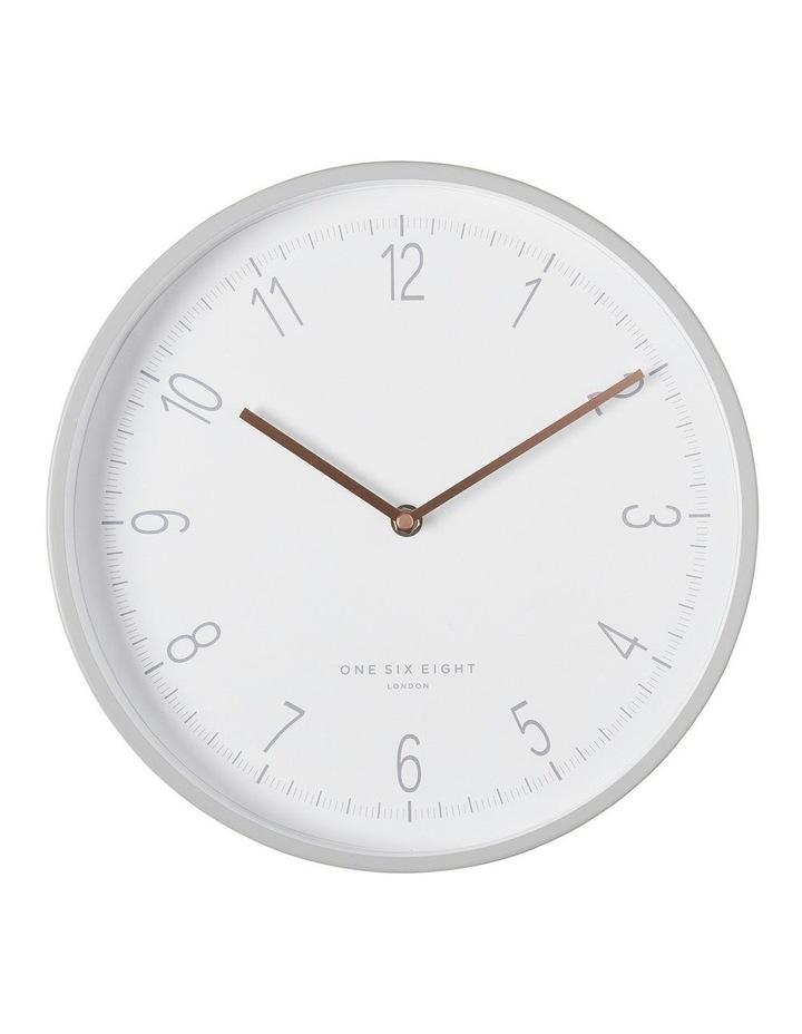 Eliza 30Cm Cool Grey Silent Wall Clock image 1