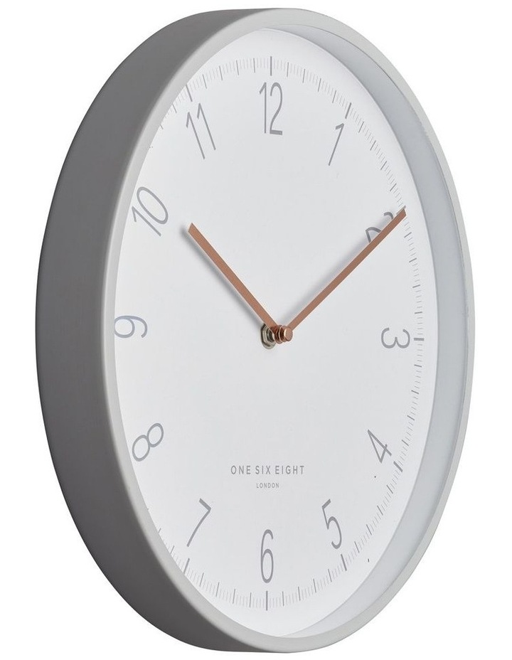 Eliza 30Cm Cool Grey Silent Wall Clock image 2