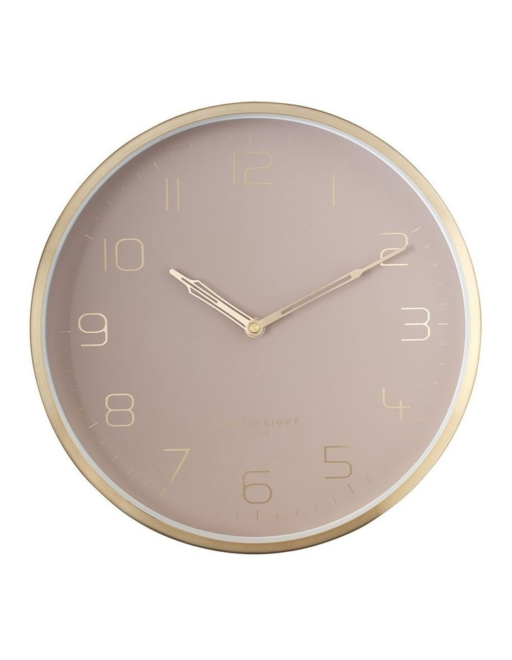 Lily 30Cm Dusty Rose Silent Wall Clock image 1
