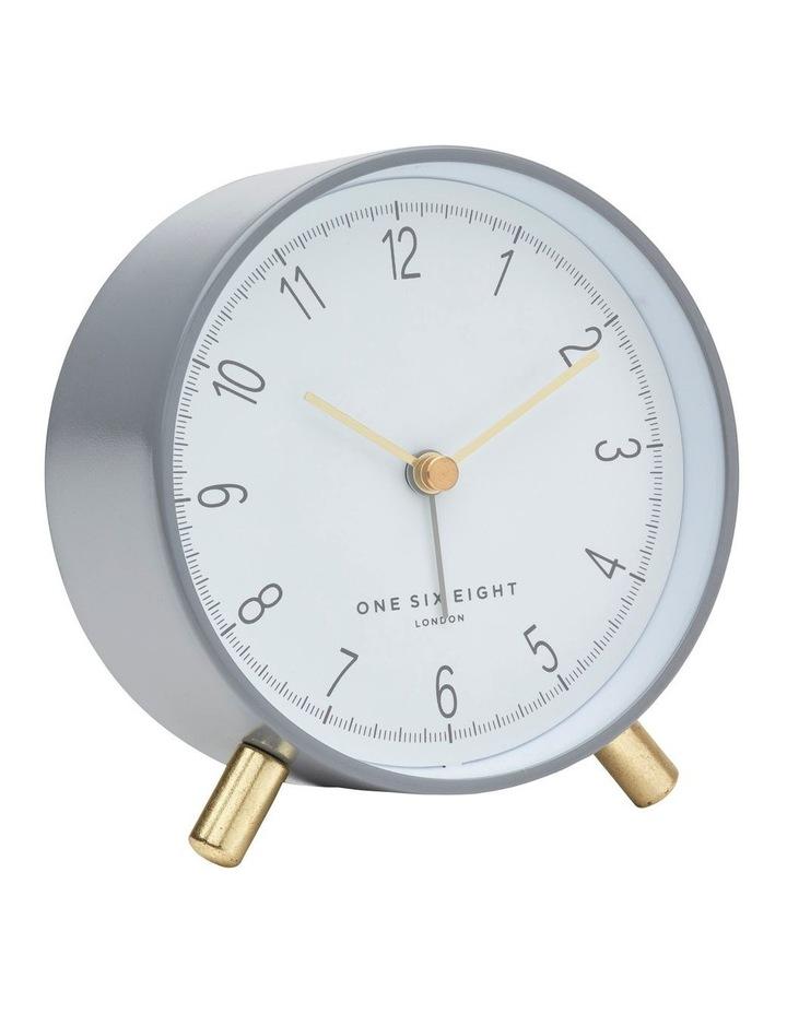 Hannah Charcoal Grey Silent Alarm Clock image 1