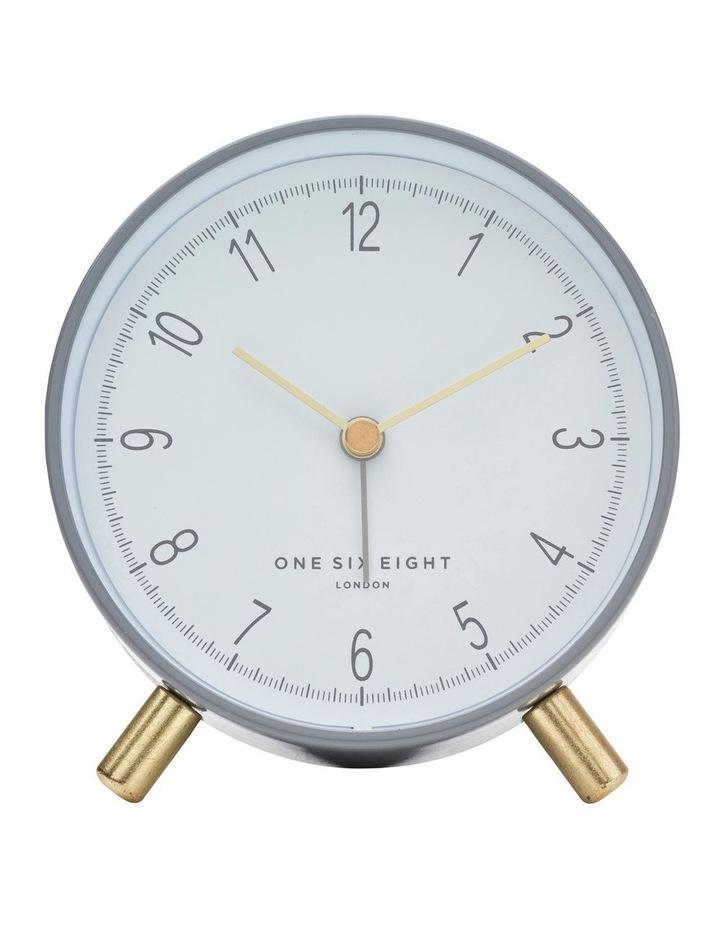 Hannah Charcoal Grey Silent Alarm Clock image 2