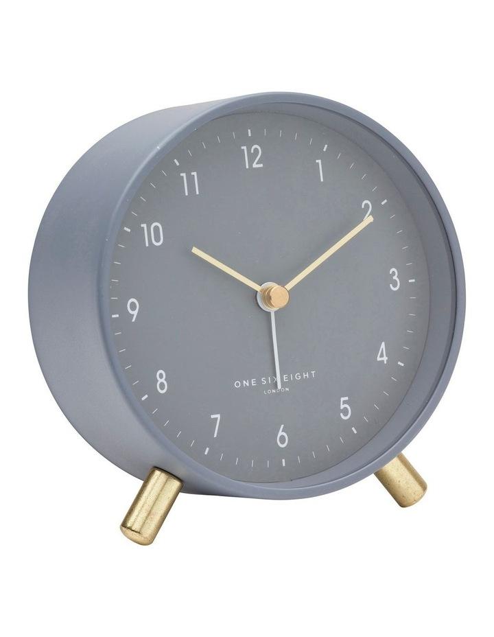 Noah Charcoal Grey Silent Alarm Clock image 1