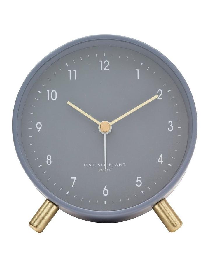 Noah Charcoal Grey Silent Alarm Clock image 2