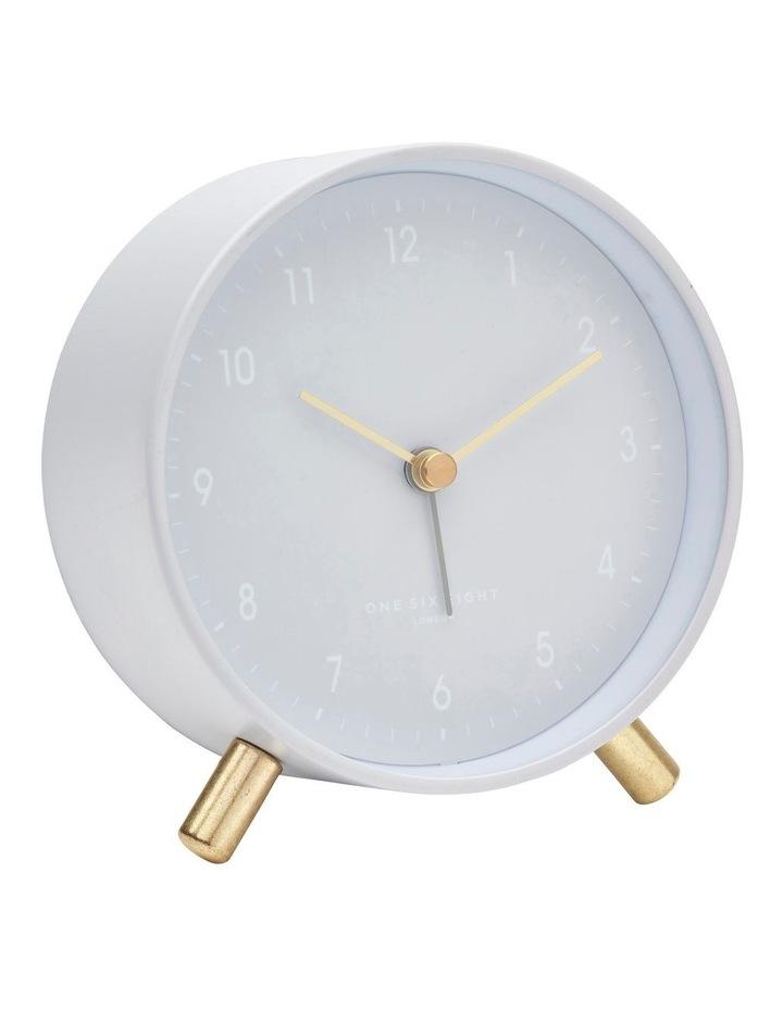 Alana Cool Grey Silent Alarm Clock image 1