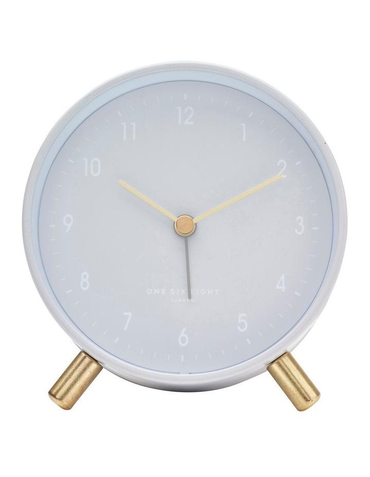 Alana Cool Grey Silent Alarm Clock image 2