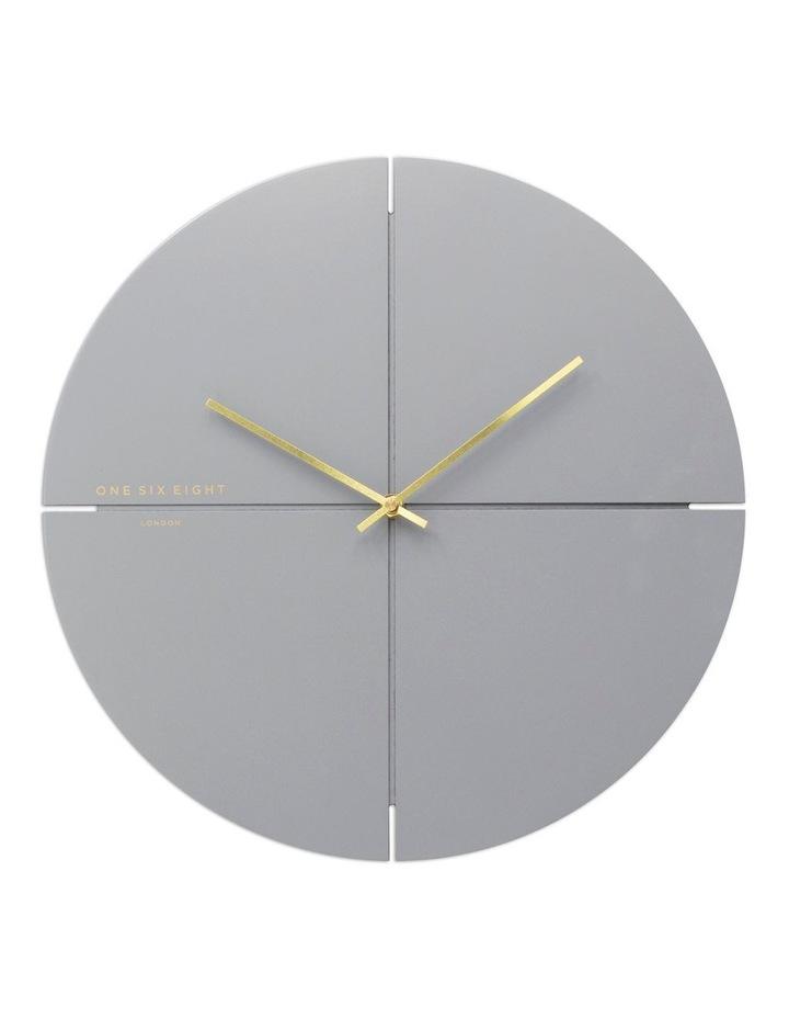 Liam 40Cm Cool Grey Silent Wall Clock image 1