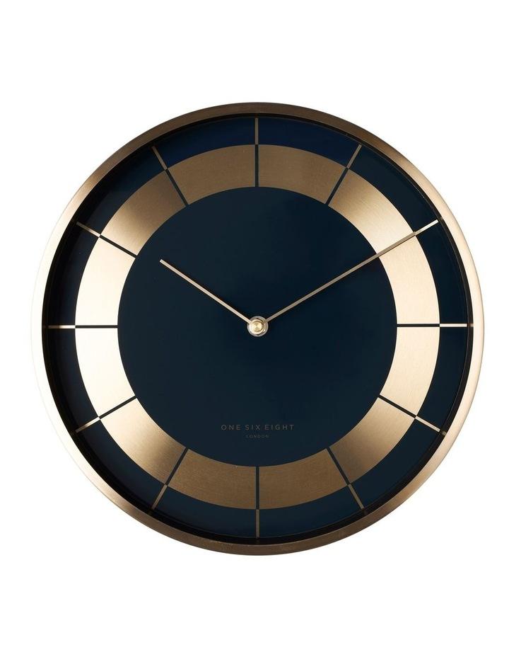 Arlo 30Cm Navy Blue Silent Wall Clock image 1