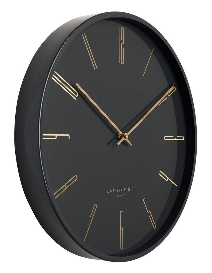Maya 30Cm Charcoal Grey Silent Wall Clock image 2