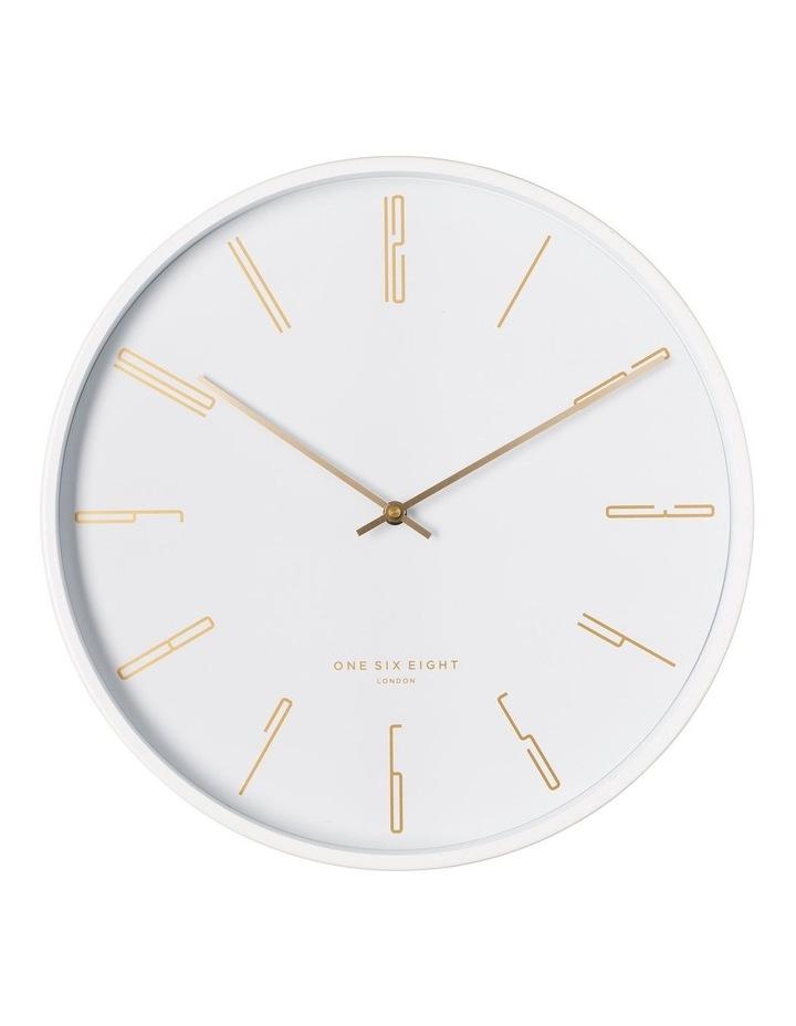 Maya 40Cm White Silent Wall Clock image 1